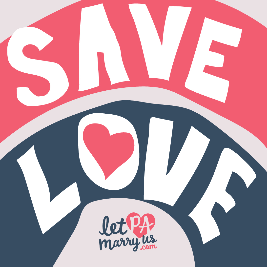 Save Love Graphic to share on social media platforms